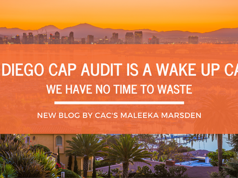 San Diego CAP Audit Is A Wakeup Call - We Have No Time To Waste!
