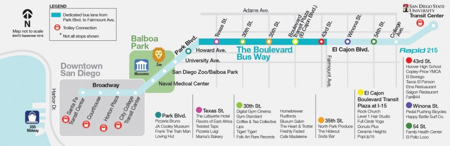 Boulevard Busway Route