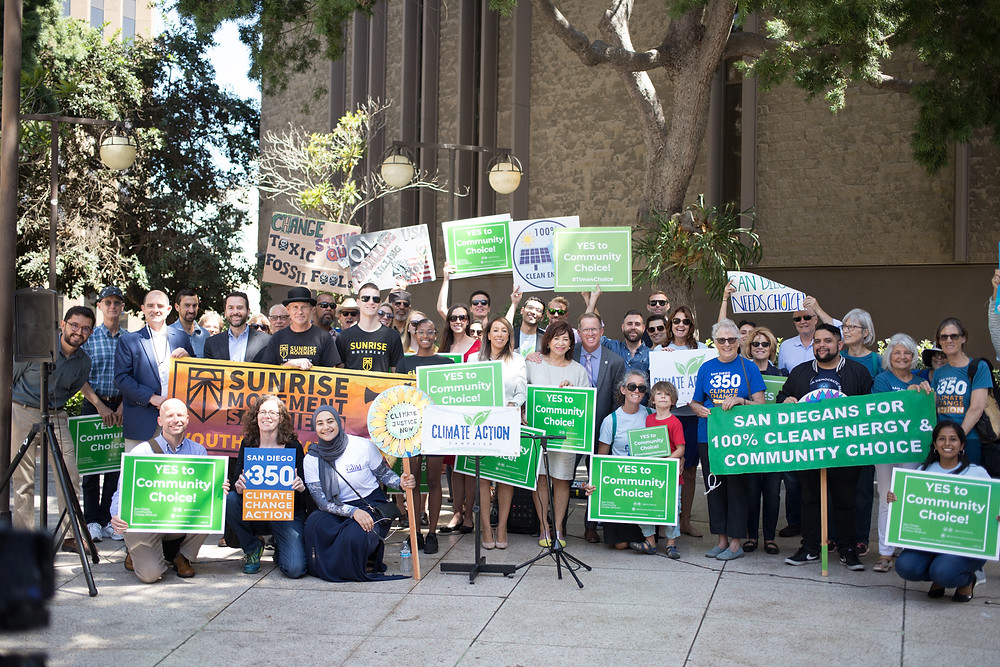 Community Members Rallying in Support of Community Choice Energy