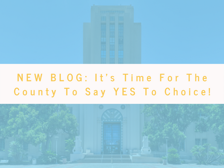 It's Time For The County To Say YES To Choice