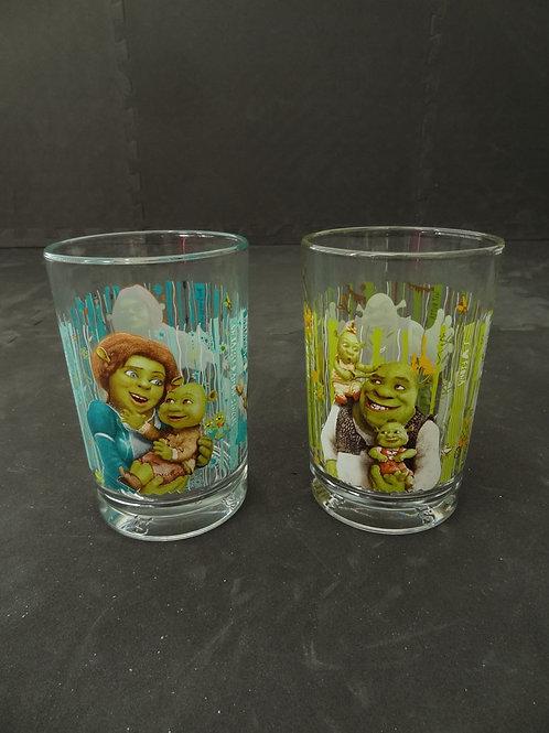 2 verres de Shrek