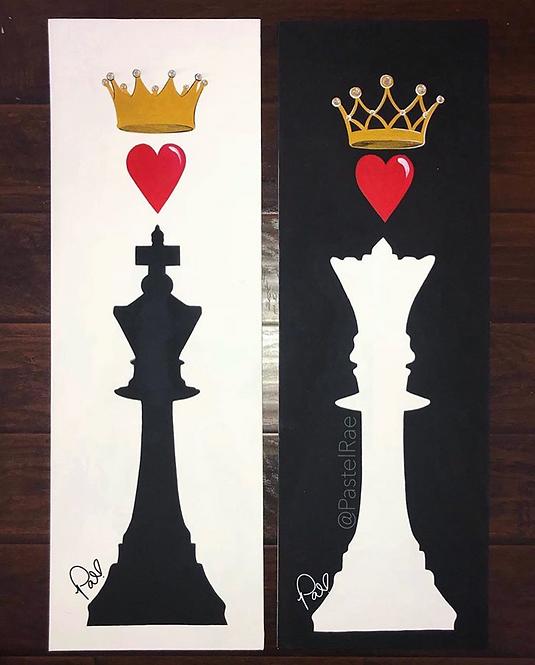 """KING & QUEEN"" poster"