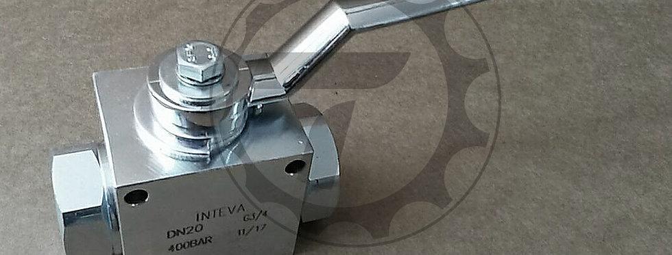 """Кран шаровый высокого давления Inteva V2RH DN20 3/4"""" BSP (400Бар)»"""
