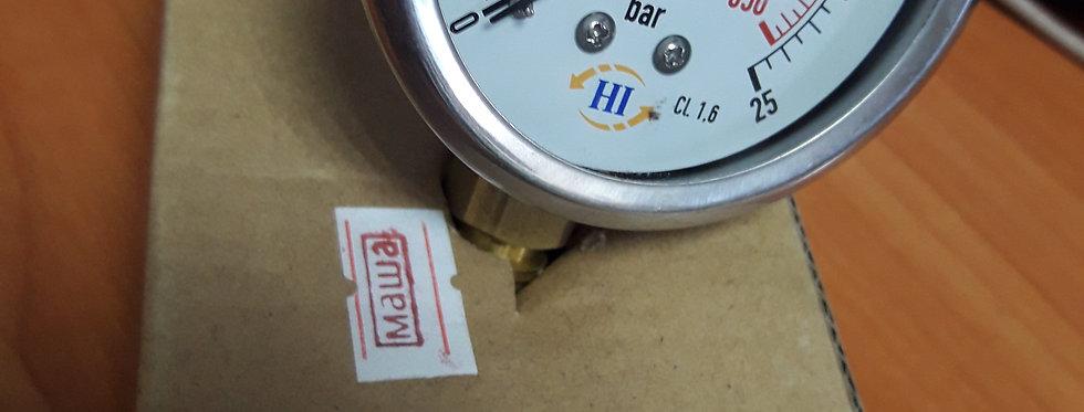 Манометр 25 bar радиальный