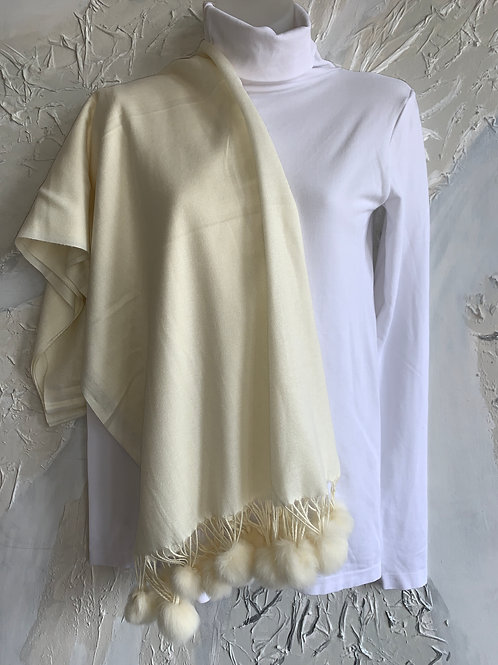 Warm Outing Scarf - Cream