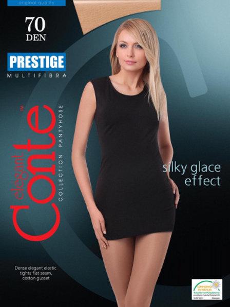 Conte Silky-Glace Effect Elegant Pantyhose Tights Prestige 70 Denier