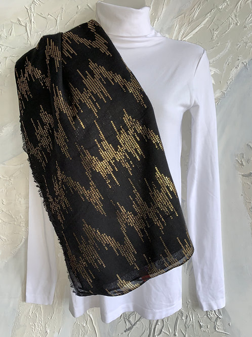 Gold Embossed Scarf