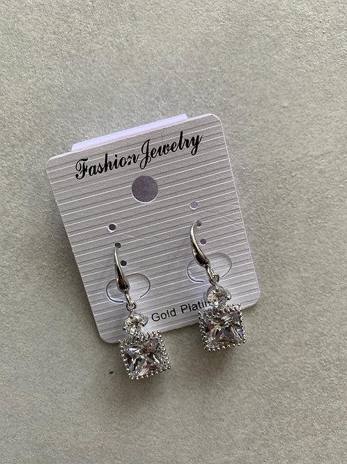Squared Diamond Earrings