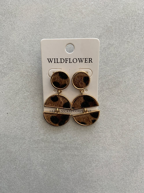 Leopard Circular Earrings