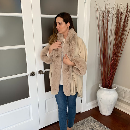 Nude Faux Fur Sweater