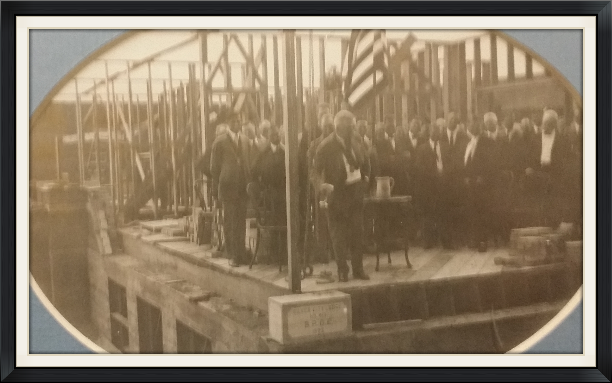 Laying the cornerstone 1923