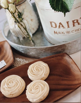 White Buttercream Roses
