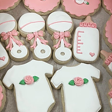 Pink Rose Baby Shower Set