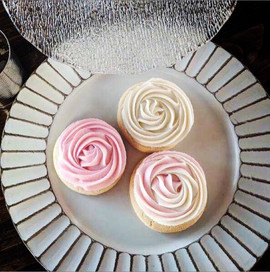 White & Pink Buttercream Roses