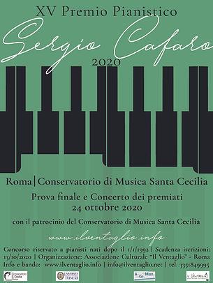 Locandina Premio Sergio Cafaro 2020 VERD