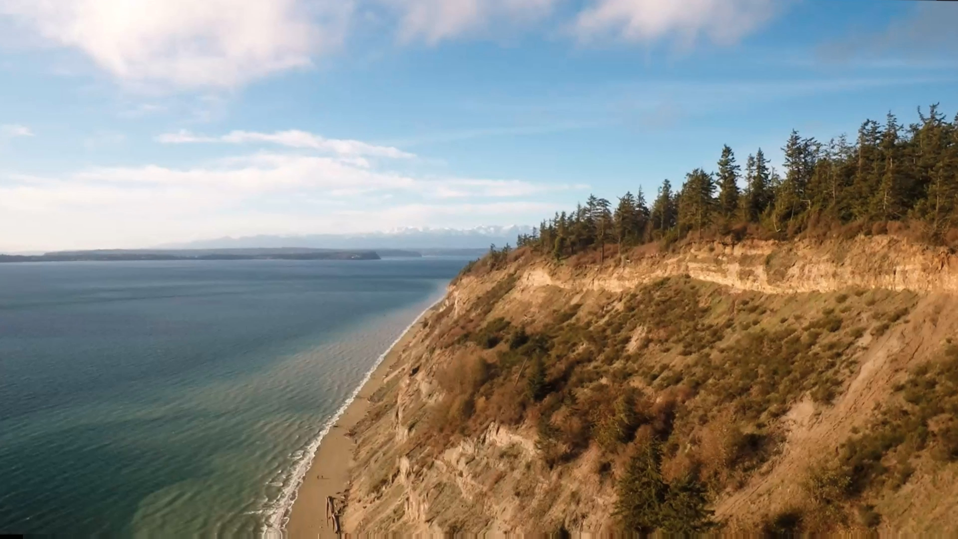 Double Bluff and Olympic Mountains