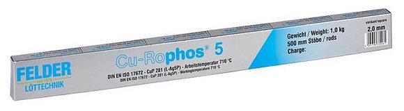 Припой Cu-Rophos 5 Felder (серебро 5%)