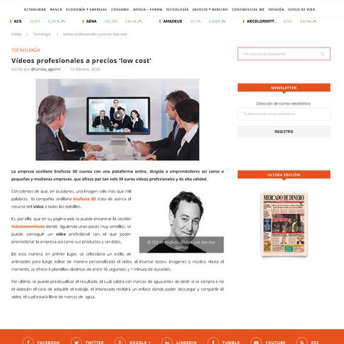 Gran eco mediático de nuestro editor de vídeos online: videosONEminute