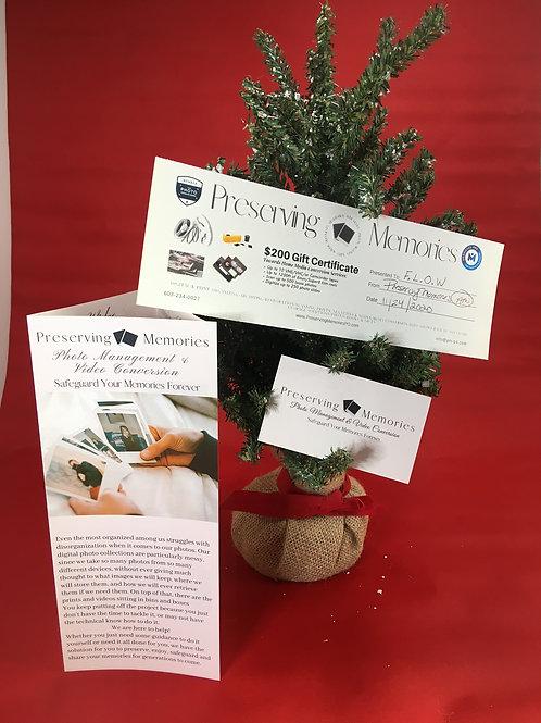 Preserving Memories $200 Gift Certificate