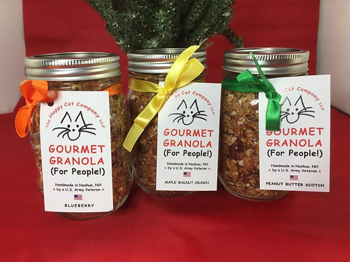 1 Jar Happy Cat Gourmet Granola for people! (3 WINNERS!)