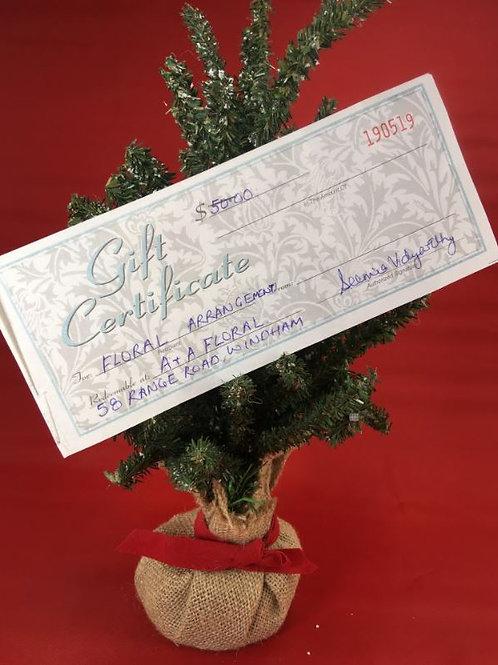 A & A Florist $50 Gift Certificate