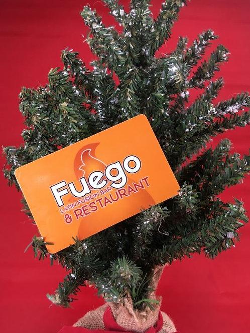 $25 gift card to Fuego Latin Fusion Bar