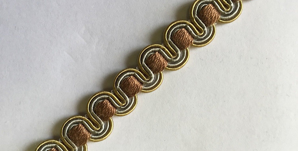 Blue And Gold Flat Braid