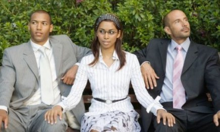 [black woman with two men] August 17, 2019