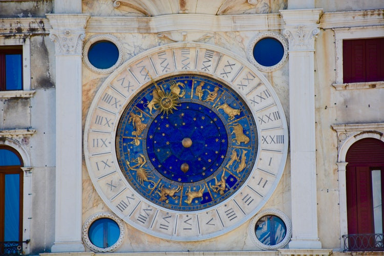 Zodiac Dial Painting in Italy