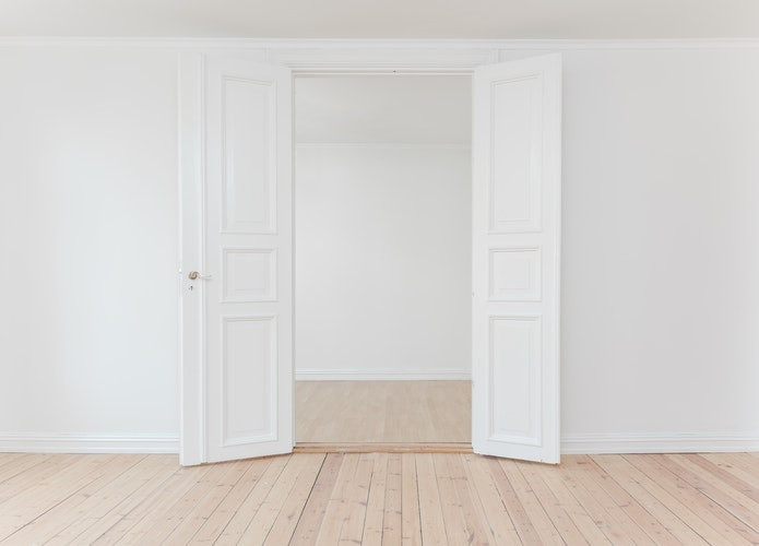 Clean White room
