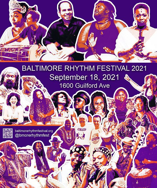 Baltimore Rhythm Festival 2021 Billboard Image