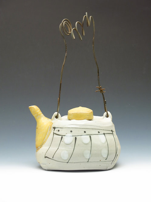 Teapot with Barb Wire Handle