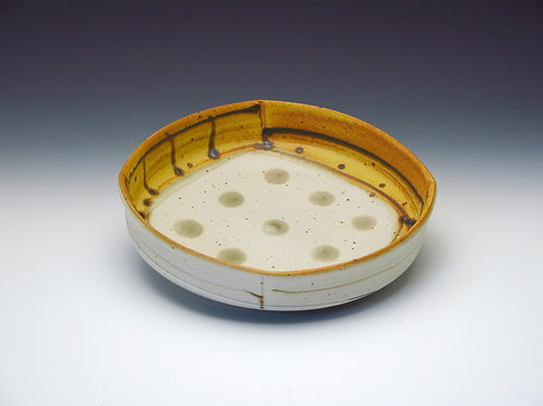 Low Bowl with gray dots