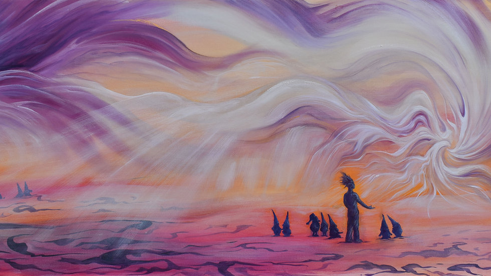"""Original Oil on Canvas """"Beckoning in the Light"""""""