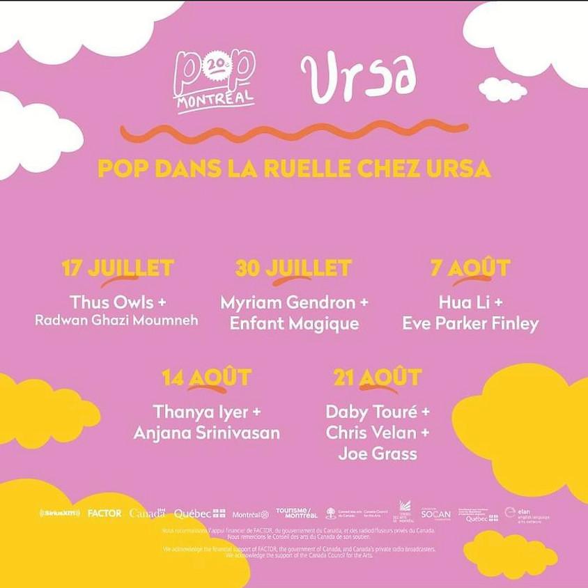 "Ursa Mtl - presented by Pop Montreal ""Pop Dans La Ruelle"""