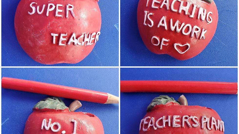 Teacher Magnet with pencil- Set of 4