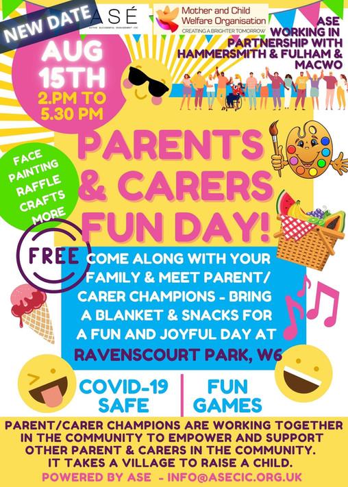 Parent & Carers Fun in the park...  A great success...