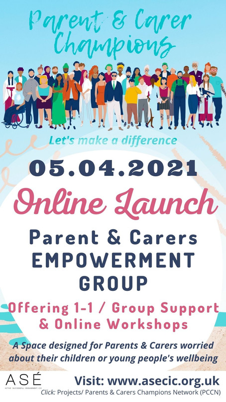 announcing... Hammersmith & Fulham - Parent/Carer Champion Network (PCCN) Launch 05.04.2021