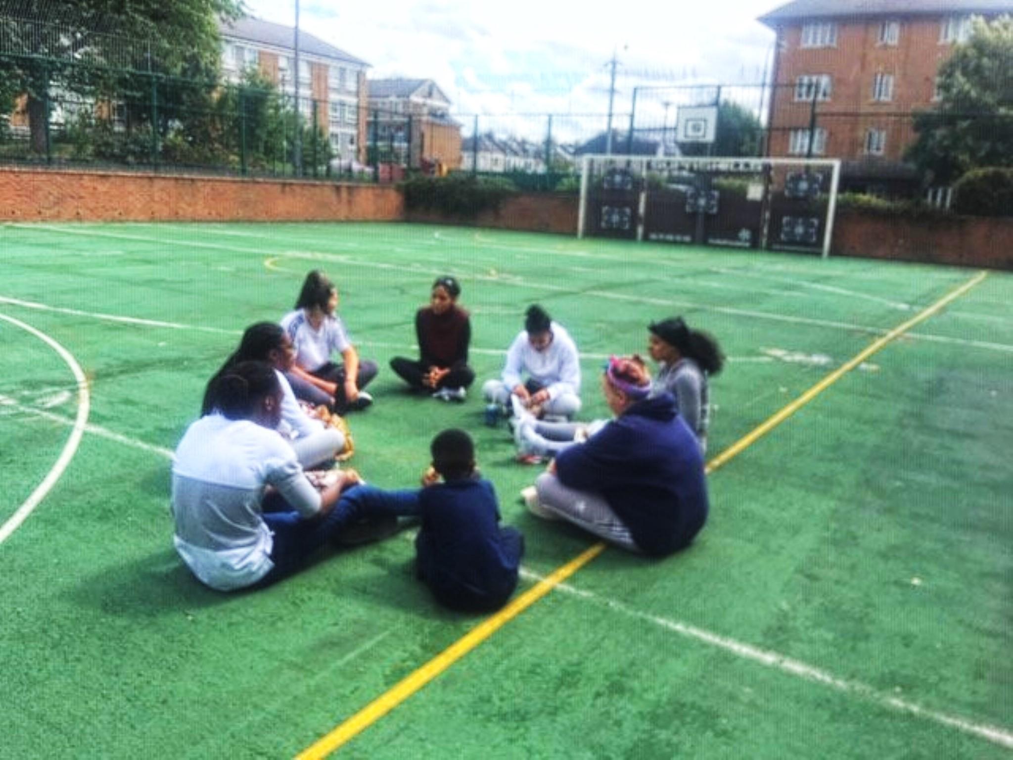 Mentees sitting in circle