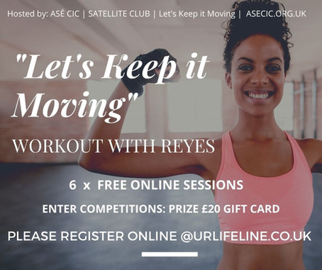 """ASÉ - satellite club """"Let's keep it Moving"""" work out video"""
