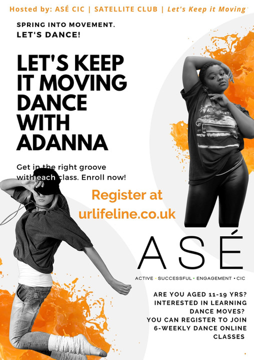 "ASÉ satellite club - ""Let's keep it moving!"""