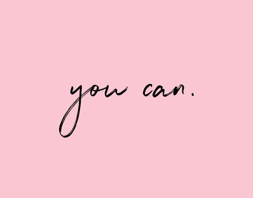 you can...