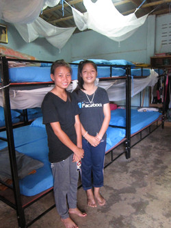 THEP bunk beds, mosquito nets