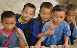 Children loving visitors