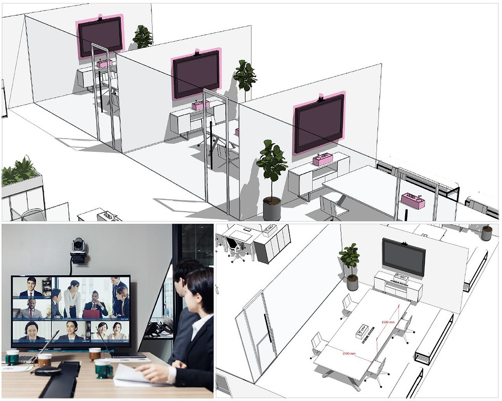 Video Conferencing equipment in meeting rooms will ensure limited external visitors, as well as keeping the connectivity and community alive between the teams if working on a rotation schedule.