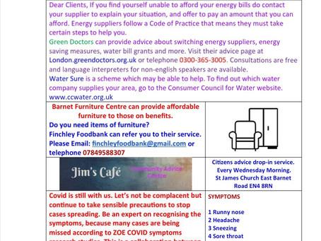 Client newsletter 11th September 2021