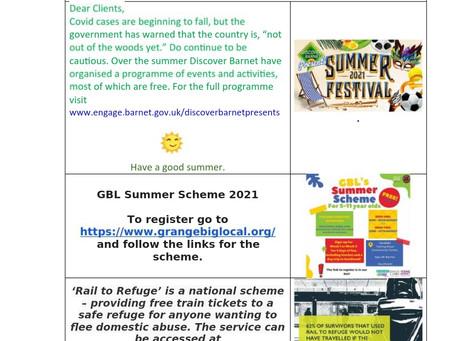 Client newsletter 31st July 2021