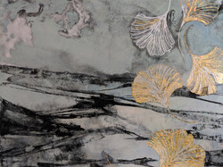 Detail from 'Falling Ginko Leaves'