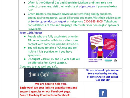 Client newsletter 28th August 2021