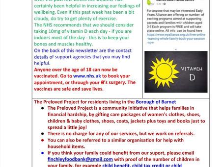 Client newsletter 27th June 2021